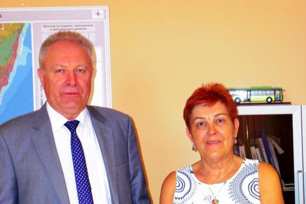 Снимка със зам. кмета на Варна - Г-н Пейчо Пейчев