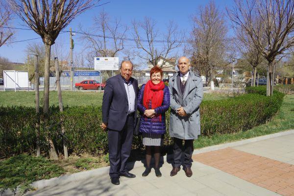 Членове на екипа с кмета на гр. Болярово - Г-н Христо Христов