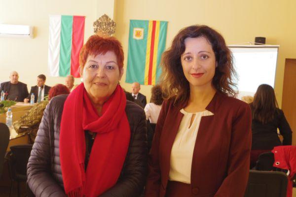 Със зам. кмета на Болярово - Г-жа Нина Терзиева