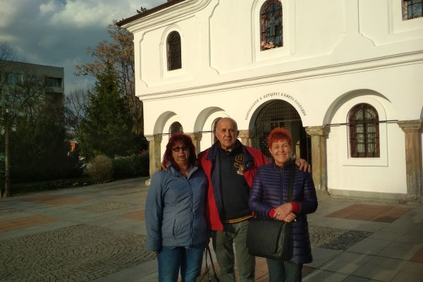 In front of the Church in Elhovo