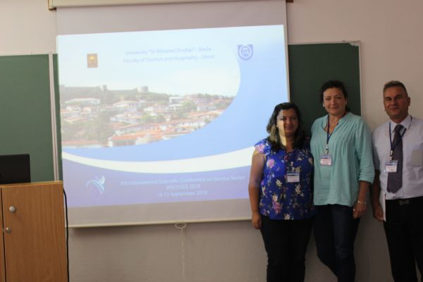 The project team's young scientists at INSCOSES 2018 – Ohrid 14-15 Sept. 2018