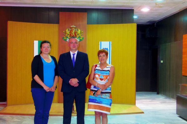 With the Mayor of Varna – Mr. Ivan Portnih