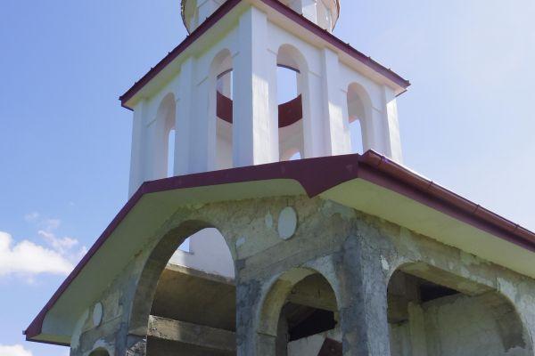 A chapel under construction near Chokmanovo village