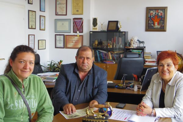 Project team meeting with the businessman Mr. Milushev
