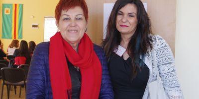 With the editor-in-chief of Kraygranichna Iskra Newspaper Mrs. Lora Velichkova